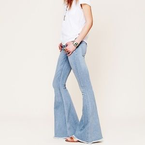Free People • super wide flare bell bottom jeans